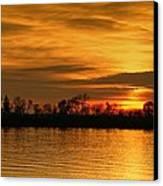 Sunset - Ohio River Canvas Print by Sandy Keeton