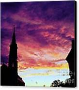 Sunset On The Basilica  Canvas Print
