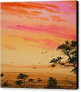 Sunset On The Coast Canvas Print by James Williamson