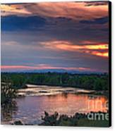 Sunset On The Payette  River Canvas Print by Robert Bales