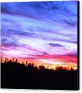 Sunset Over Madisonville Canvas Print by Regina McLeroy