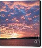 Sunset Over The Narrows Waterway Canvas Print
