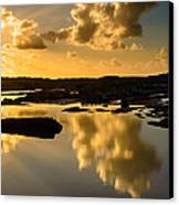 Sunset Over The Ocean V Canvas Print by Marco Oliveira