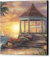 Sunset Overlook Canvas Print by Chuck Pinson