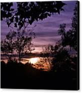 Sunset Purple Sky Canvas Print
