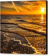 Sunset Seascape Canvas Print by Adrian Evans
