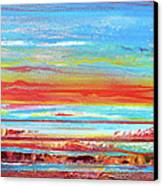 Sunset Series Druridge Bay 1c Canvas Print by Mike   Bell