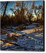 Sunset Snow Canvas Print by Baywest Imaging