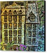Sunset South Street Seaport C 1811 Canvas Print by Jill Balsam