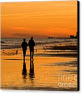 Sunset Stroll Canvas Print by Al Powell Photography USA