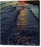 Sunset Surf Canvas Print by Perry Webster