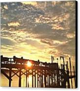 Sunset Through Pier Canvas Print