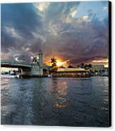 Sunset Waterway Panorama Canvas Print
