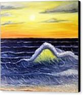 Sunset Wave Canvas Print by Barbara Pelizzoli