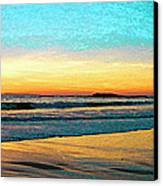 Sunset With Birds Canvas Print by Ben and Raisa Gertsberg