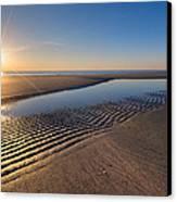 Sunshine On The Beach Canvas Print by Debra and Dave Vanderlaan