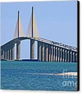 Sunshine Skyway Bridge Canvas Print by Delmas Lehman