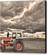 Superman Sepia Skies Canvas Print