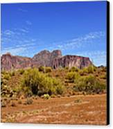 Superstition Mountains Arizona - Flat Iron Peak Canvas Print by Christine Till