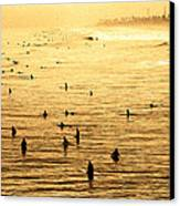 Surf Convention Canvas Print by Ron Regalado