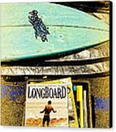 Surfboards And Magazines Canvas Print by Ron Regalado