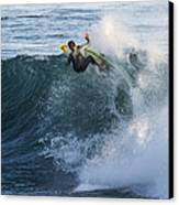 Surfer At Steamer Lane Canvas Print by Bruce Frye