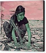 Surviving The Fallout Canvas Print by Absinthe Art By Michelle LeAnn Scott