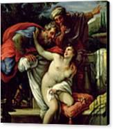 Susanna And The Elders Canvas Print by Giuseppe Bartolomeo Chiari
