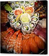 Sushi Tray Canvas Print