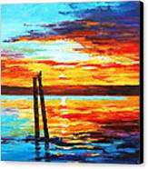 Swansea Sunset Canvas Print