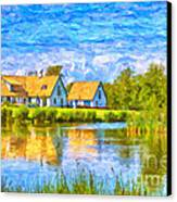 Swedish Lakehouse Canvas Print by Antony McAulay