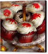 Sweet - Cupcake - Red Velvet Cupcakes  Canvas Print by Mike Savad
