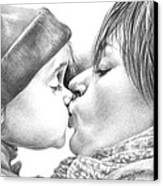 Sweet Kiss Canvas Print by Natasha Denger