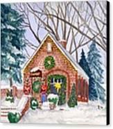 Sweet Pierre's Chocolate Shop Canvas Print by Rhonda Leonard