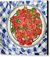 Sweet Strawberries Canvas Print by Janet Immordino