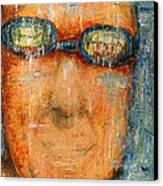 Swimmer - 2012 Canvas Print by Nalidsa Sukprasert