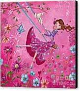 Swing Girl Canvas Print by Caroline Bonne-Muller