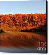 Swirling Reflections With Fall Colors Canvas Print by Dan Friend