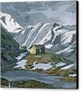 Switzerland Hospice Of St. Bernard Canvas Print by Italian School