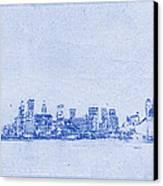 Sydney Skyline Blueprint Canvas Print by Kaleidoscopik Photography