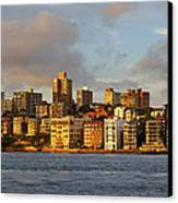 Sydney Town Houses Canvas Print by DerekTXFactor Creative