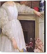 Symphony In White No 2 The Little White Girl Canvas Print by James Abbott McNeill Whistler