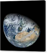 Synthesized View Of Earth Showing North Canvas Print