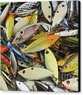 Tackle Box Tangle Canvas Print by Jerry McElroy