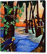 Tahiti Window Canvas Print by Peter Piatt