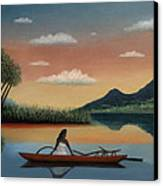 Tahitian Morning Canvas Print by Gordon Beck