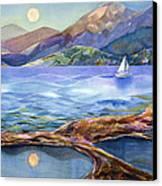Tahoe Tides Canvas Print by Jen Norton