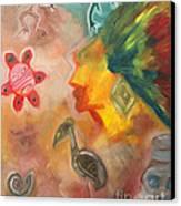 Taino Symbol Canvas Print