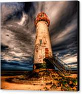 Talacre Lighthouse Canvas Print by Adrian Evans