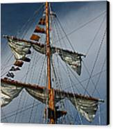 Tall Ship Mast Canvas Print by Suzanne Gaff